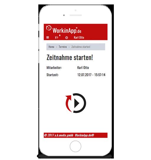 Handwerkersoftware-Zeiterfassung-Zeitnahme-starten