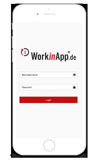 Handwerkersoftware-Zeiterfassung-Login-Formular Effizienz