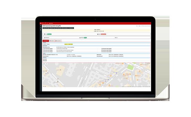 Handwerkersoftware-Zeiterfassung-Auftrag-disponieren Klicken