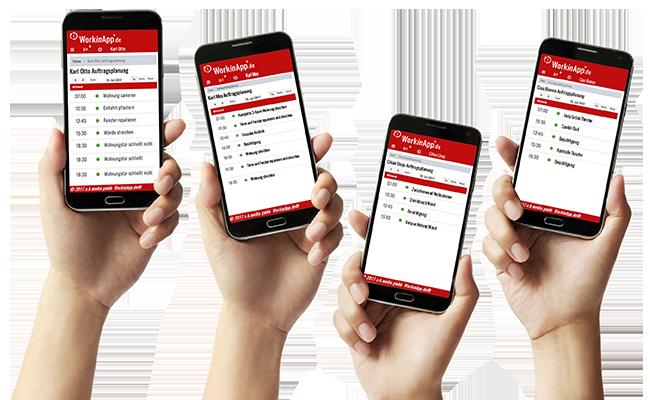 Handwerkersoftware-Zeiterfassung-Informationen-Einsatz Klicken